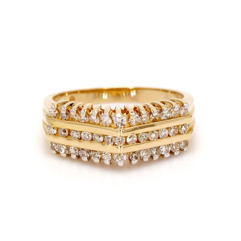 Estate Diamond Free Form Ring