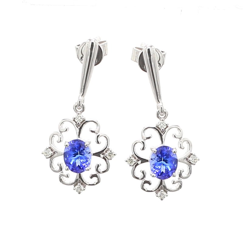 Color by Spicer Greene Tanzanite Dangle Earrings