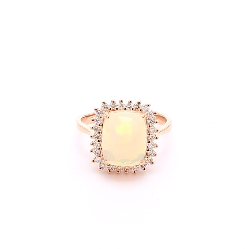 Color by Spicer Greene White Opal Halo Ring