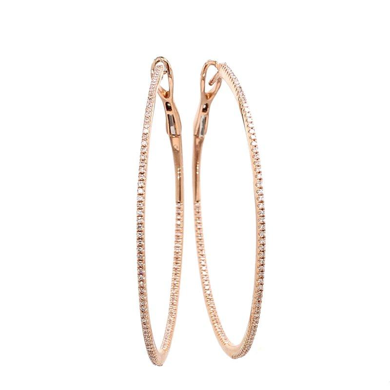 Spicer Greene Diamond Hoop Hinged Inside/Out Earrings