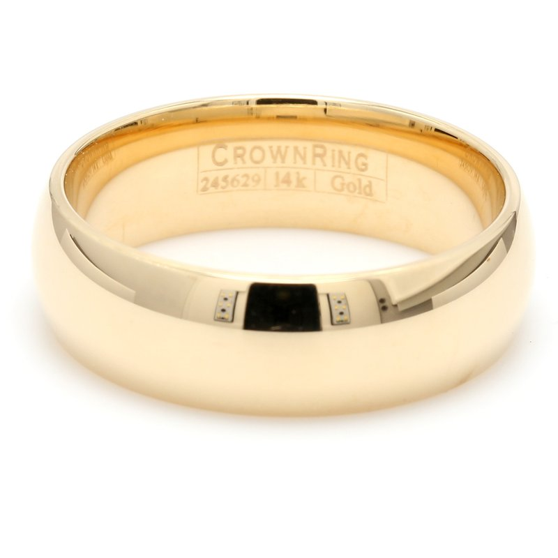 CrownRing 7mm 14 Karat Gold Wedding Band