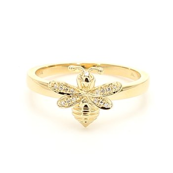 Diamond Bee Ring