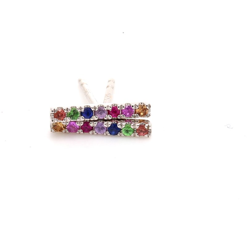 Color by Spicer Greene Rainbow Bar Earrings
