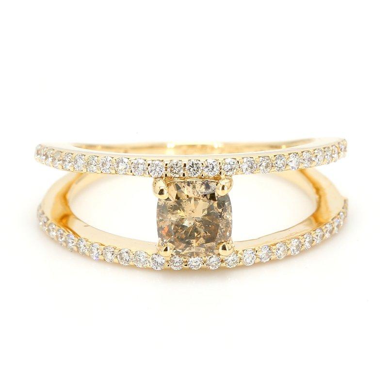 Spicer Greene Split-Shank Diamond Ring