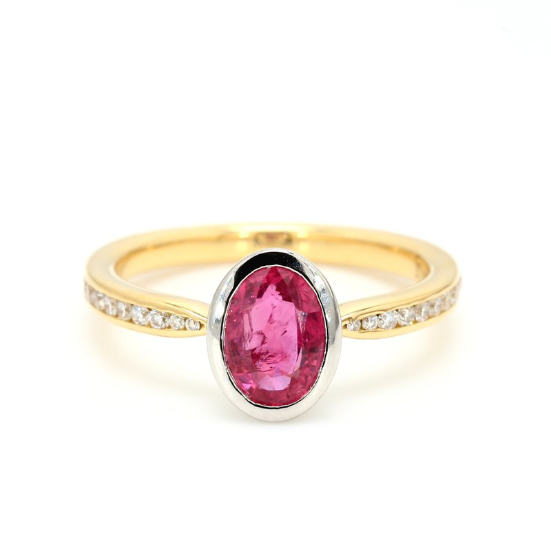 Color by Spicer Greene Solitaire Ruby Ring