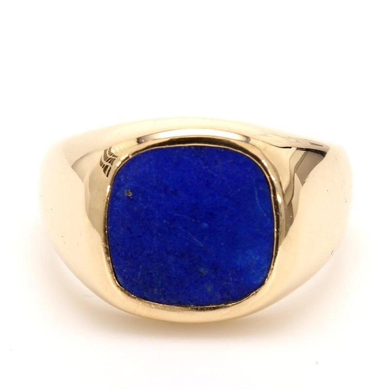 Estate Lapis Lazuli Solitaire Ring