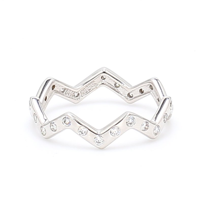 Color by Spicer Greene Zig Zag Stackable Ring