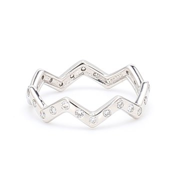 Zig Zag Stackable Ring