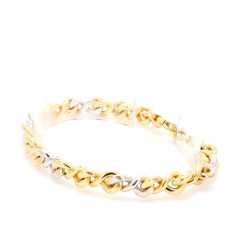 Gold Figure Eight Bracelet