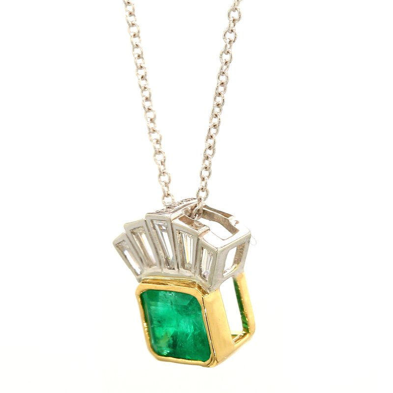Color by Spicer Greene Emerald Pendant