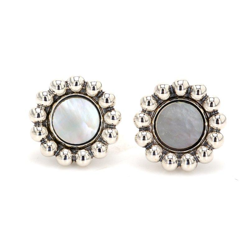 Lagos Mother of Pearl Stud Earrings
