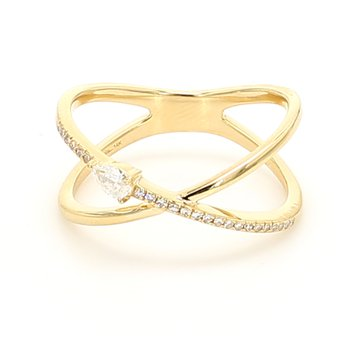 """X"" Diamond Ring"