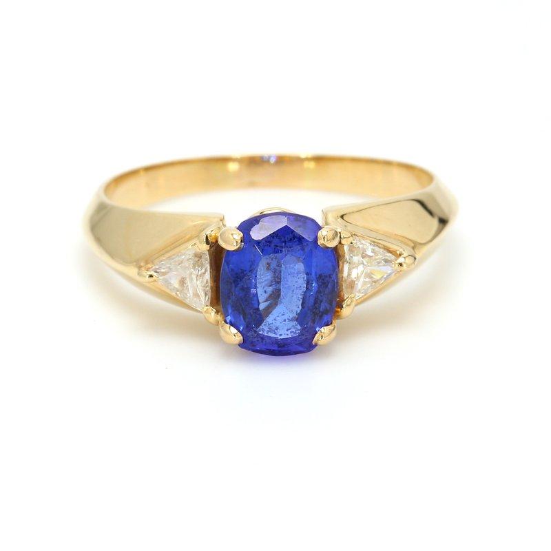 Estate Tanzanite 3 Stone Ring