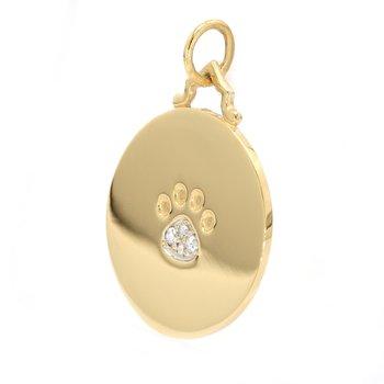 Diamond Paw Pendant