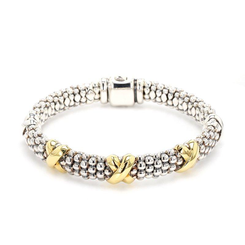 Lagos Silver & Gold Caviar Bracelet