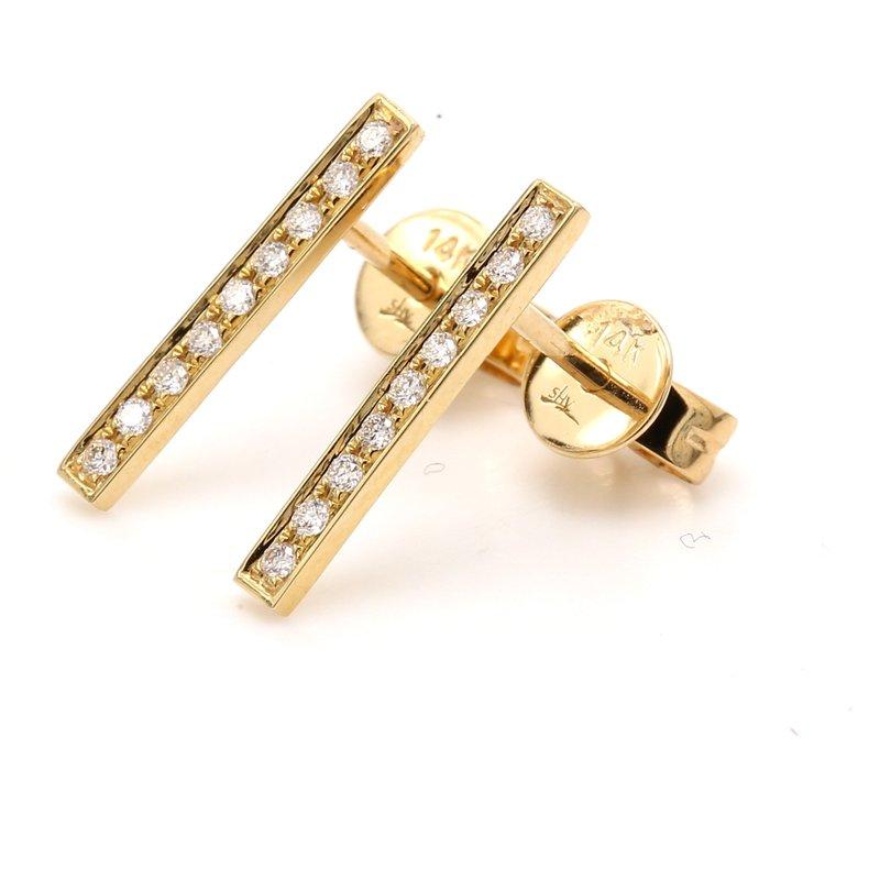 Spicer Greene Diamond Bar Earrings