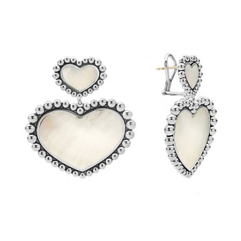 Mother of Pearl Heart Earrings