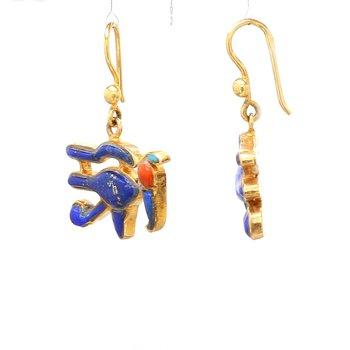 Lapis Lazuli Bird Earrings