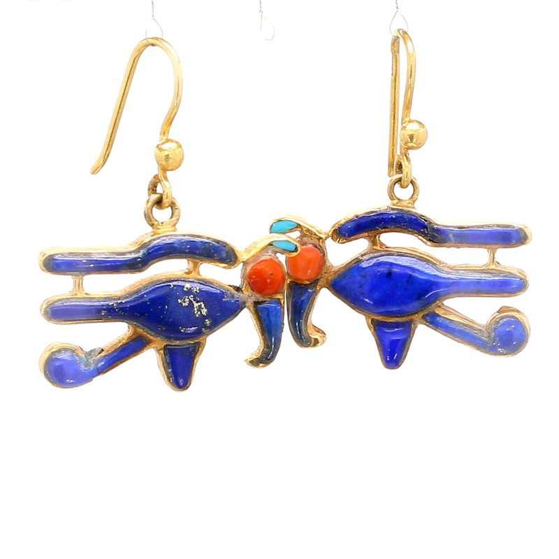 Estate Lapis Lazuli Bird Earrings