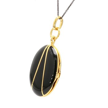 Black Enamel Locket