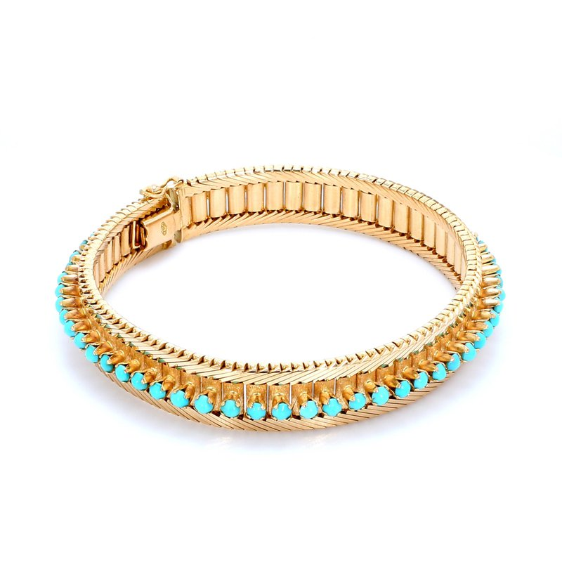 Estate Turquoise Tennis Bracelet