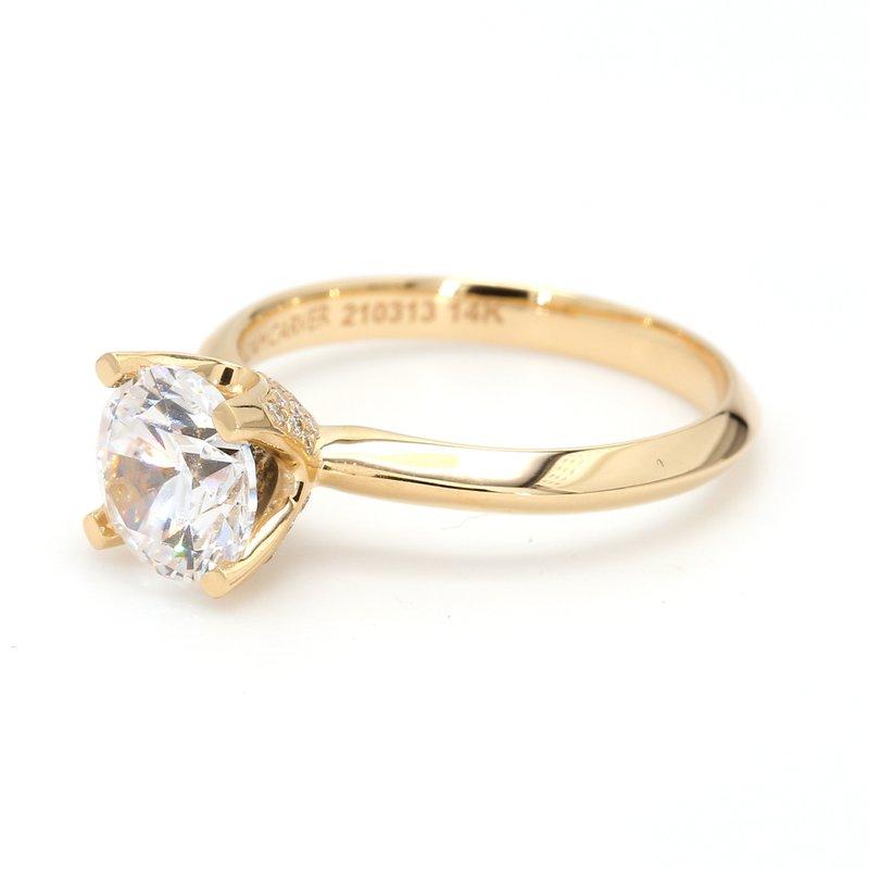 Noam Carver Solitaire Semi Mount Engagement Ring