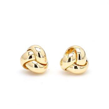 White Gold Love Knot Earrings