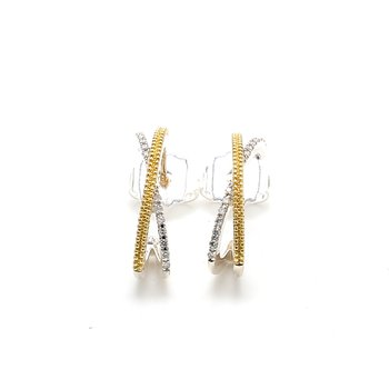 Two-Tone Gold Drop Earrings