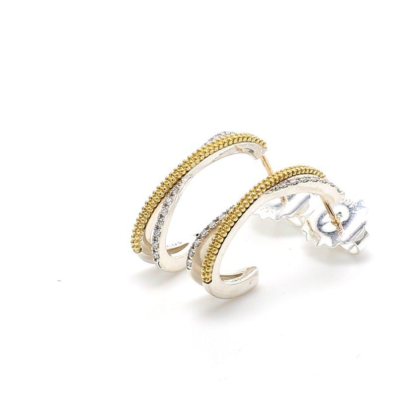 Lagos Two-Tone Gold Drop Earrings