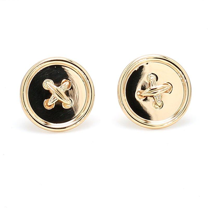 Spicer Greene Button Gold Earrings
