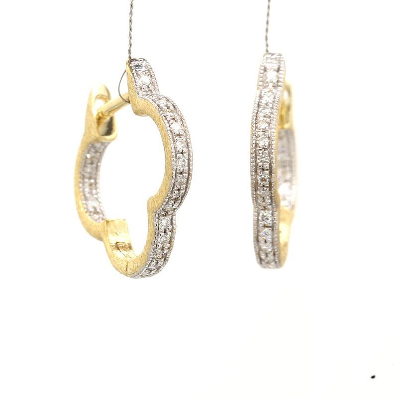 Jude Frances Diamond Huggie Hoop Earrings