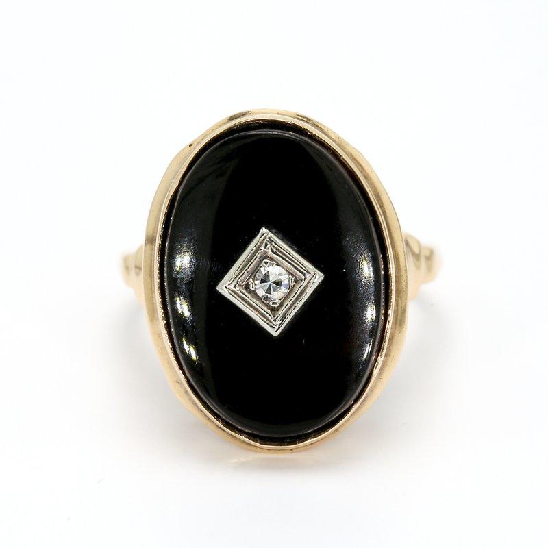 Estate Black Onyx Ring