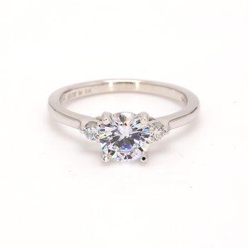 3 Stone Semi Mount Engagement Ring