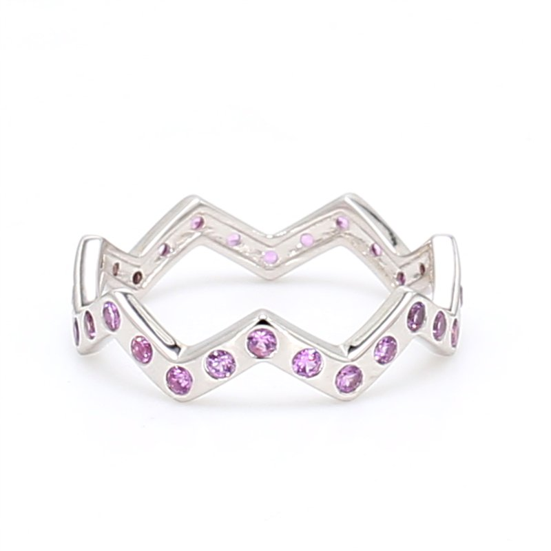 Color by Spicer Greene Zig Zag Pink Sapphire Ring
