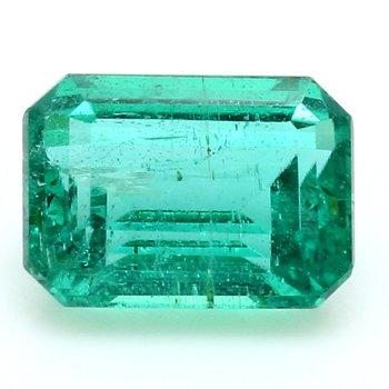 One Emerald Cut Emerald Beryl