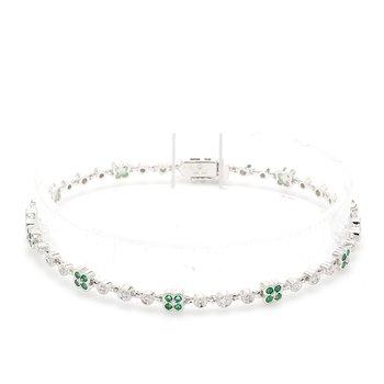 Emerald Fancy Link Bracelet