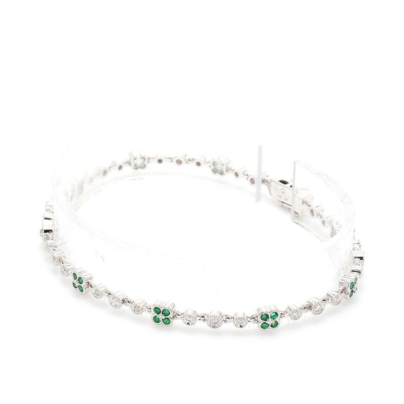 Color by Spicer Greene Emerald Fancy Link Bracelet