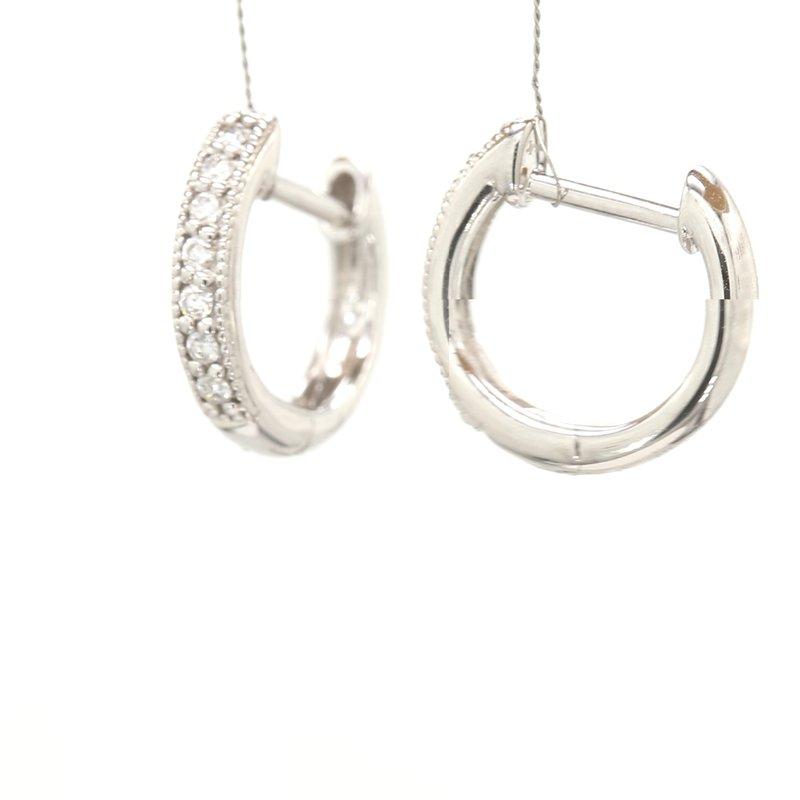 Jude Frances Diamond Huggie Hoop Earrings