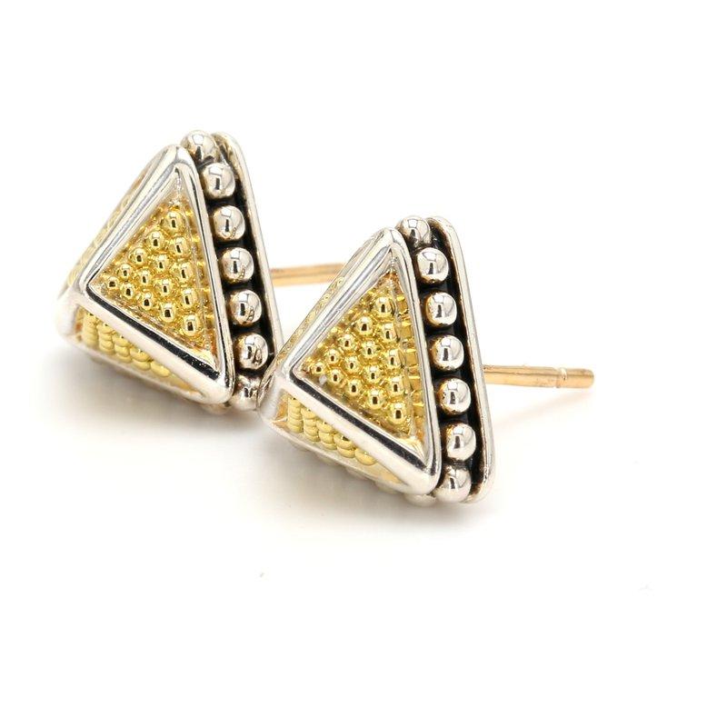 Lagos Pyramid Stud Earrings