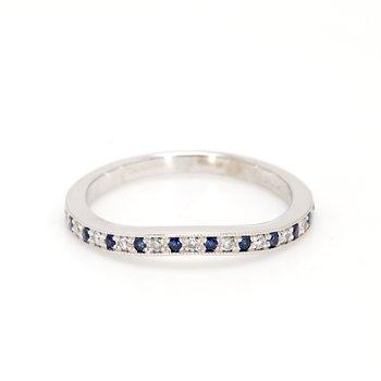 Sapphire Contour Ring
