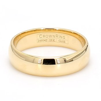6mm 18 Karat Gold Wedding Band