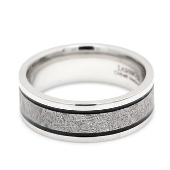 Cobalt & Meteorite Wedding Band