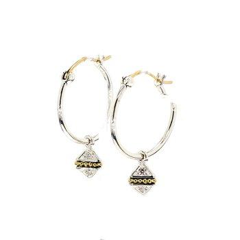 Two-Tone Hoop Earrings