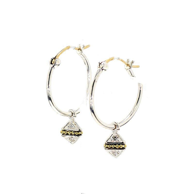 Lagos Two-Tone Hoop Earrings