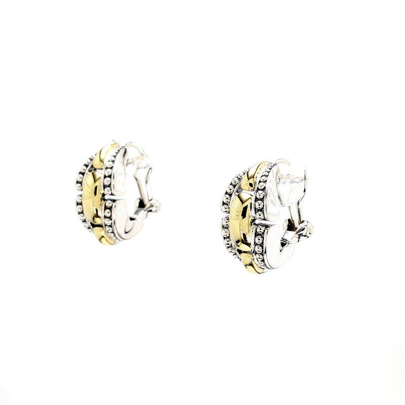 Lagos Two-Tone Earrings