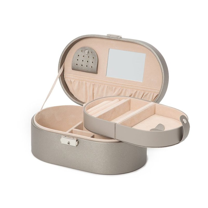 Wolf Heritage Oval Jewelry Box