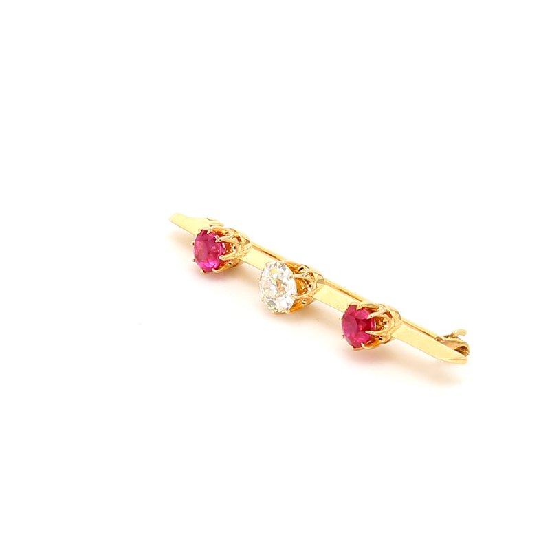 Estate Ruby Bar Pin