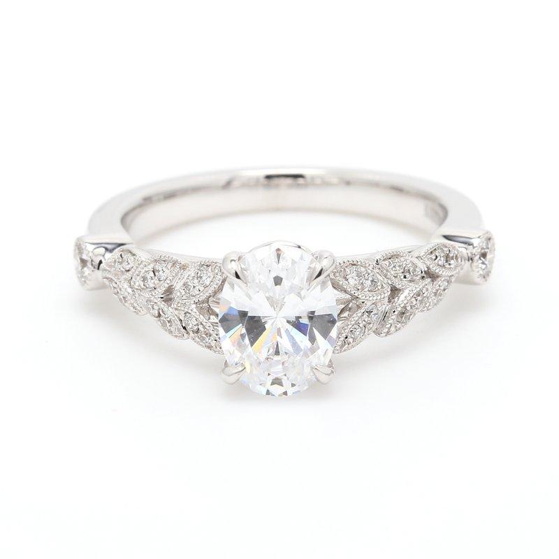 Kirk Kara Solitaire with Diamonds Semi Mount