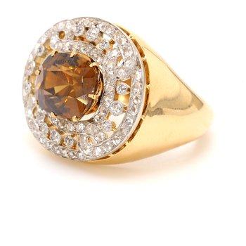 Zircon Halo Ring