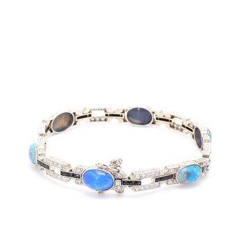 Black Opal Tennis Bracelet